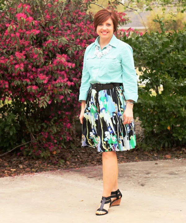 Gingham, florals and two ways to wear a skirt