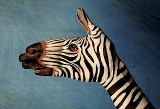 Amazing Hand Paintings Zebra