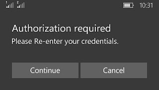 Authorization Required Prompt