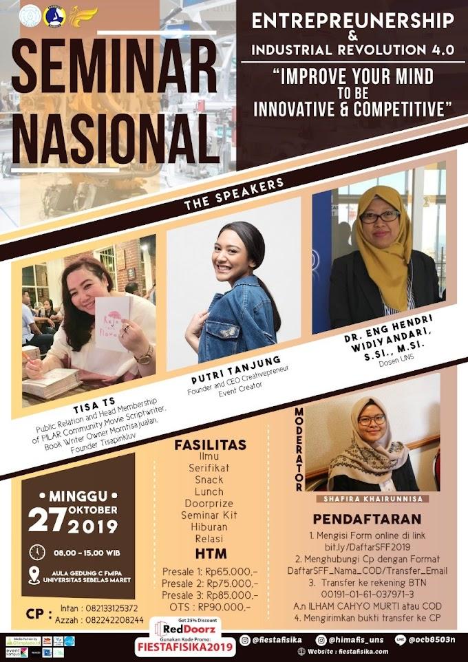 Seminar Nasional Entrepreunership Terbaru 2019