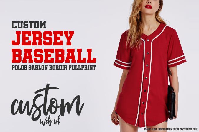 Konveksi Baju Jersey Baseball Polos Sablon Bordir Full Print