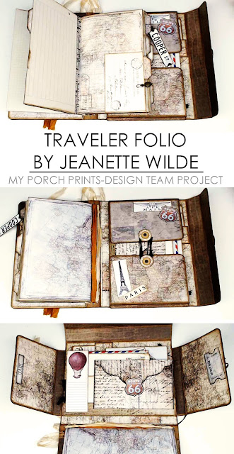 Traveler Folio by Jeanette Wilde: A My Porch Prints DT Project