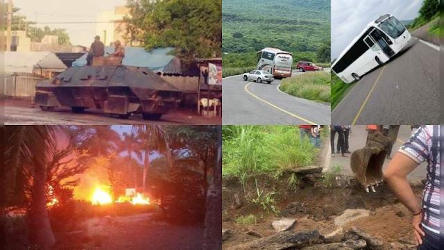 Líder Viagra estaría herido y habría decenas de muerto; 18 horas de balaceras en Buenavista, Michoacán drones surcan el cielo