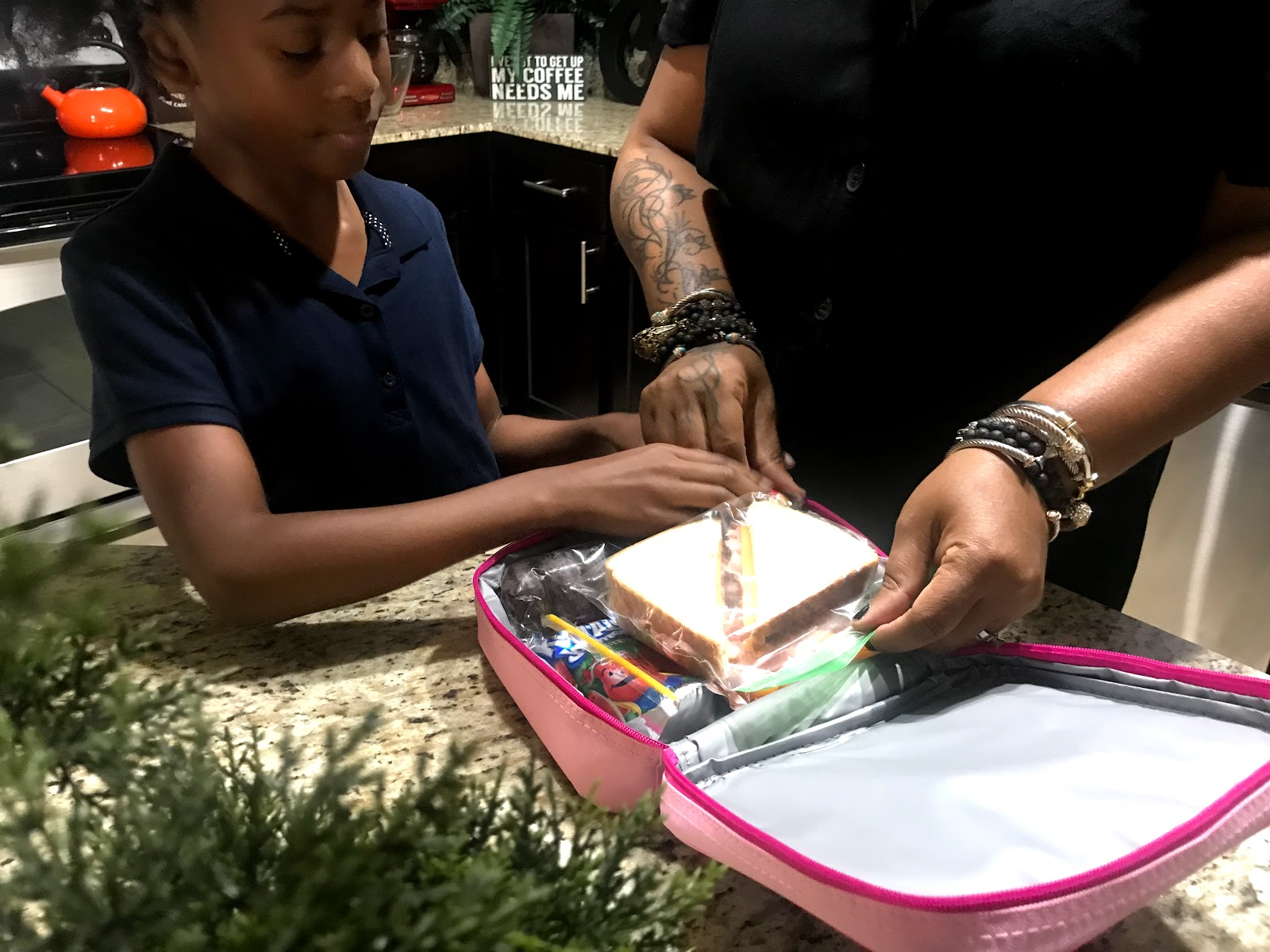 """Image"""" Tangie Bell and her daughter packing lunch for school lunches. Seen first on Bits and babbles blog"""