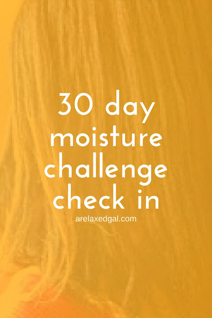 I'm sharing results from my participation in the 30 Days of Moisture Challenge hosted by Jen of Just Grow Already and Jay of Relaxed Thairapy. | arelaxedgal.com
