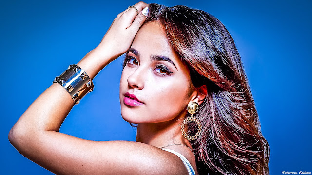 Becky G retouched hd wallpaper