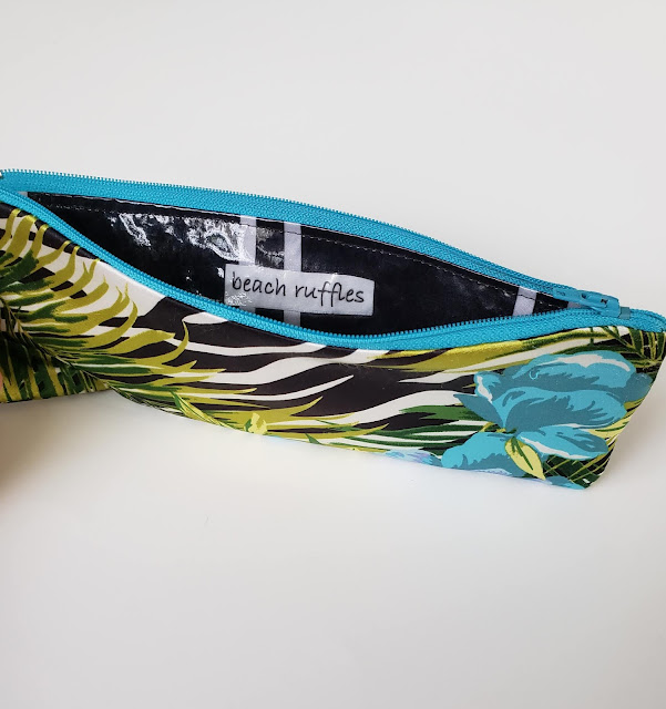 Makeup brush bag from Beach Ruffles