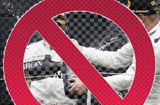 celebración champán f1 prohibido