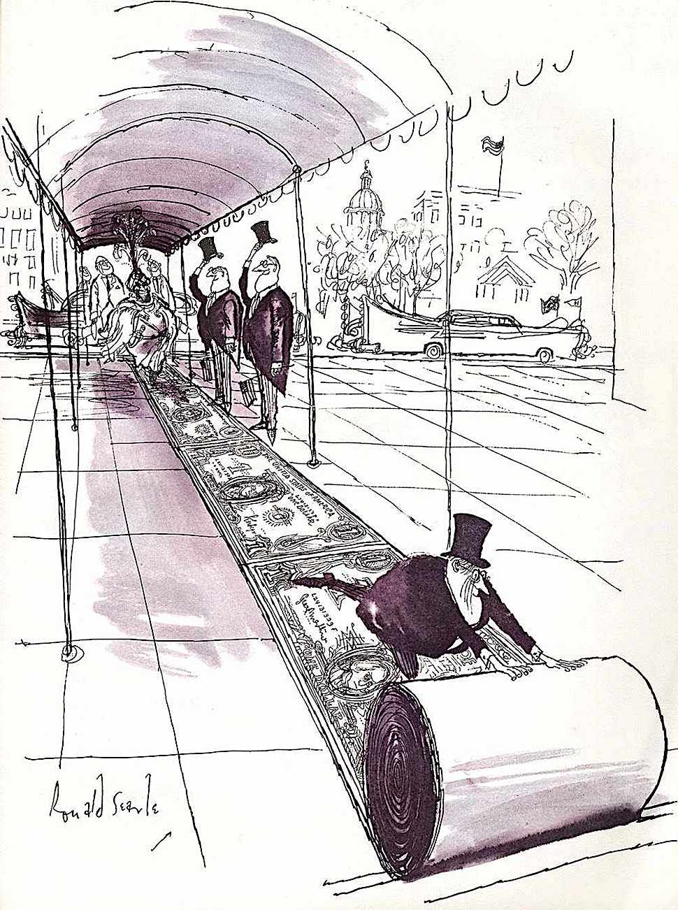 a Ronald Searle cartoon about wealth