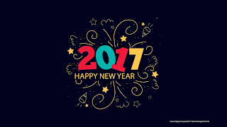Happy New Year 2017 Majestic Blue Design