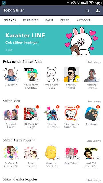 sticker line premium gratis