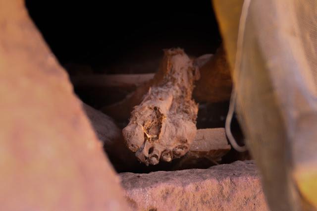 Mummy in Lalibela church