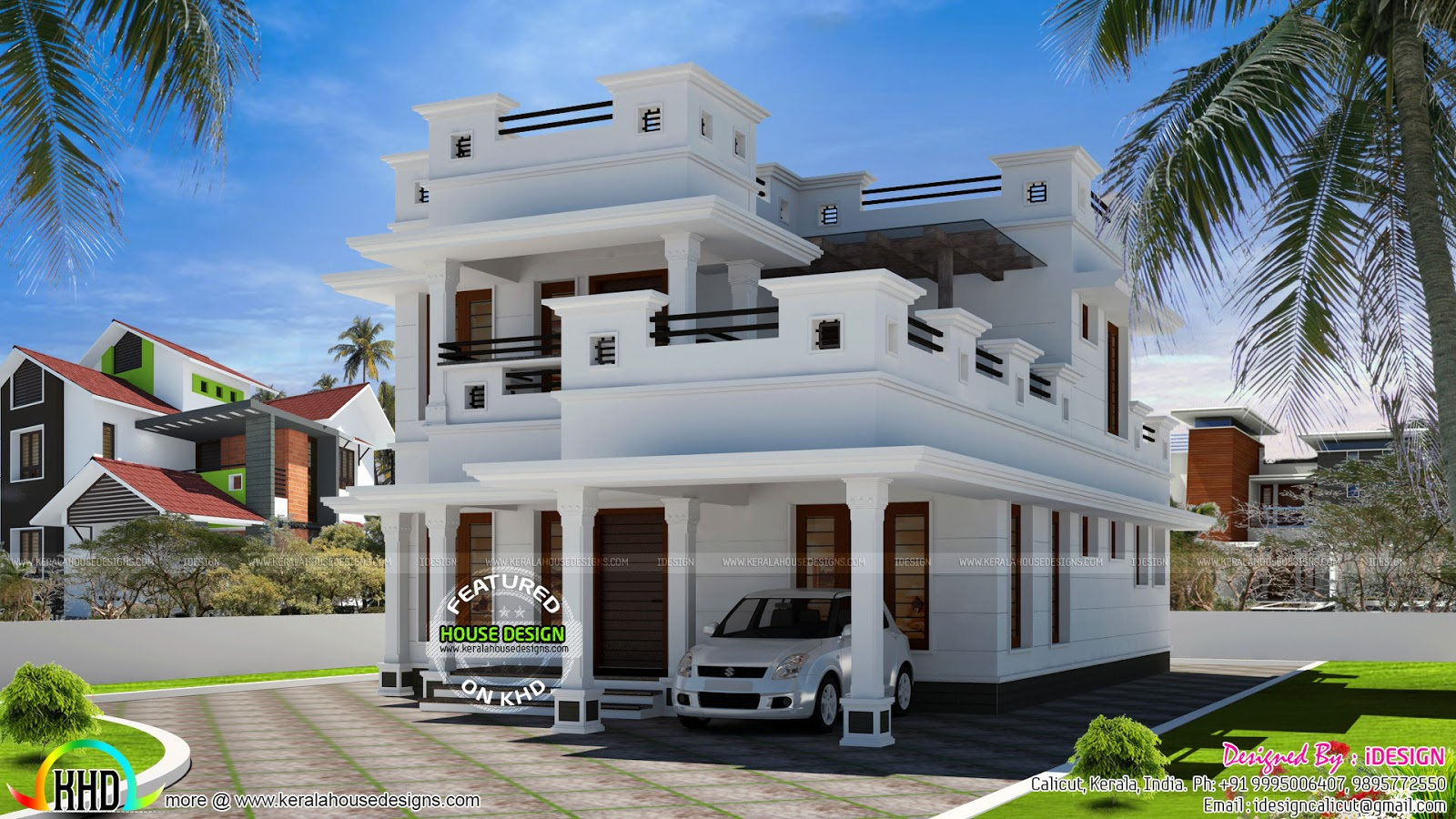 February 2017 kerala home design and floor plans for Pure home designs
