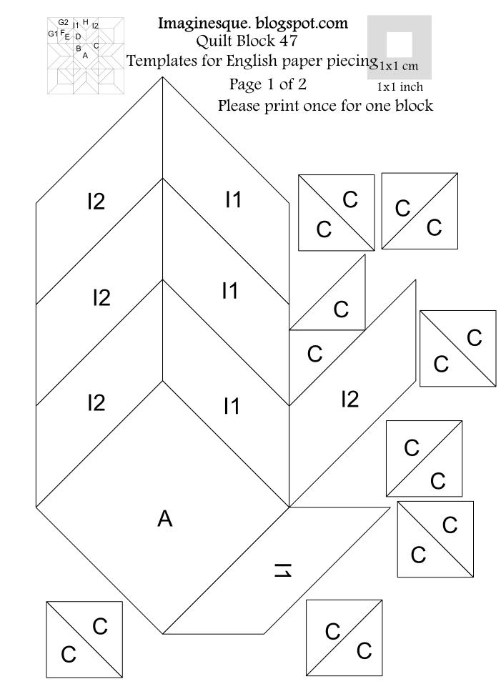 Imaginesque Quilt Block 47 Pattern Amp Templates