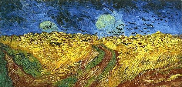 Cuadro trigal con cuervos. Rembradt y Van Gogh el arte en Amsterdam