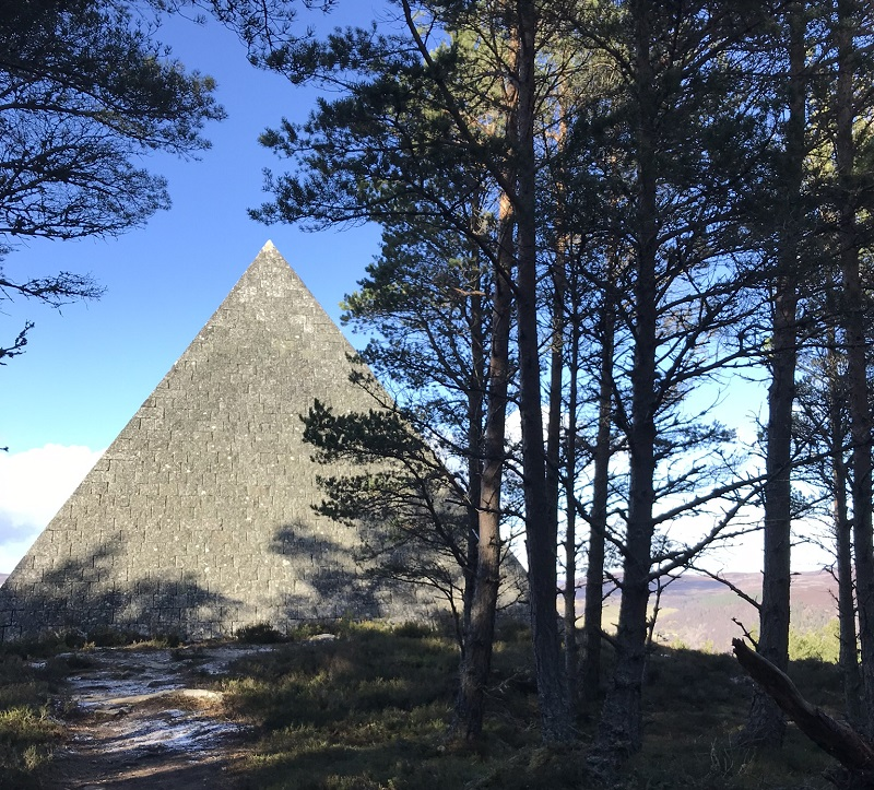 The Balmoral Pyramid - Prince Albert's Cairn on the Balmoral estate in Aberdeenshire