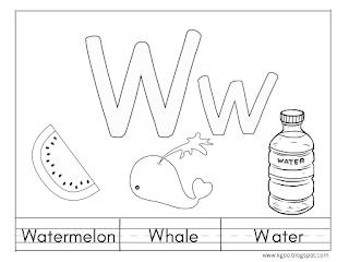 الحروف الانجليزية letter w