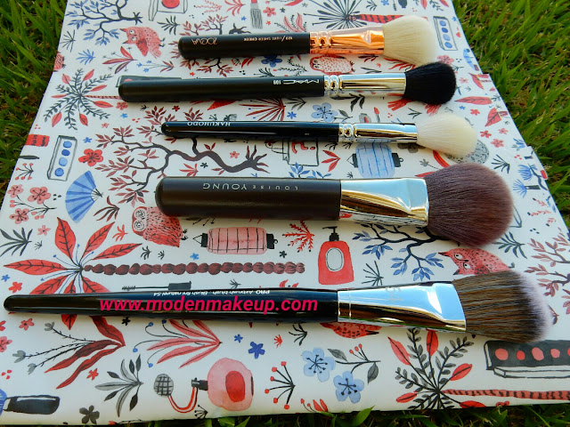 Favourite blush brushes - www.modenmakeup.com