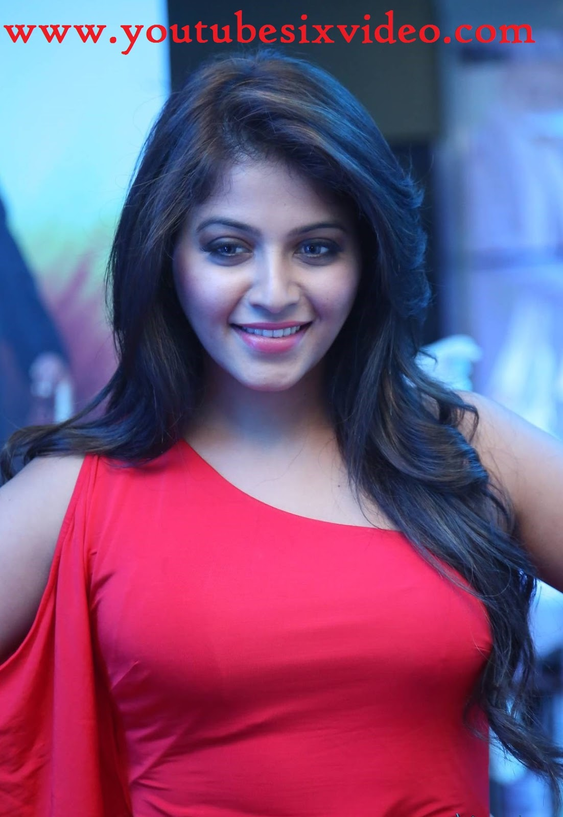 beautiful pic : actress anjali spicy in red dress - youtube six video