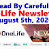 OneLife Newsletter, August 5th, 2020