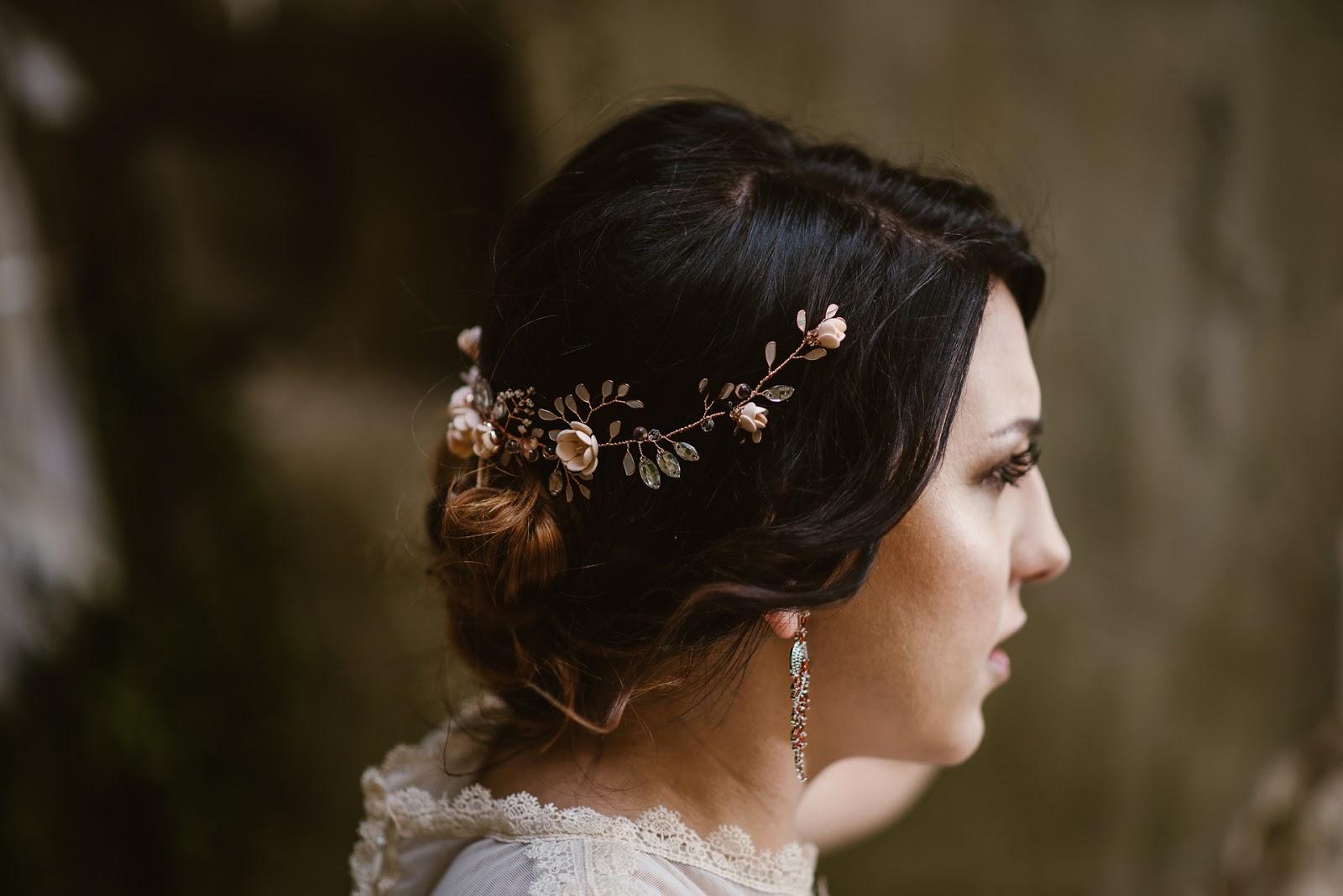 Gałązka ślubna rose gold