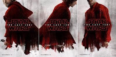 star wars the last jedi movie poster luke, fin, kylo ren