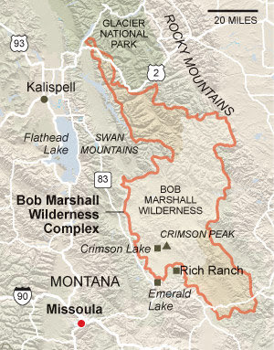 Bob Marshall Wilderness Map The Huckleberry Hiker: Exploring the Bob Marshall Wilderness Complex