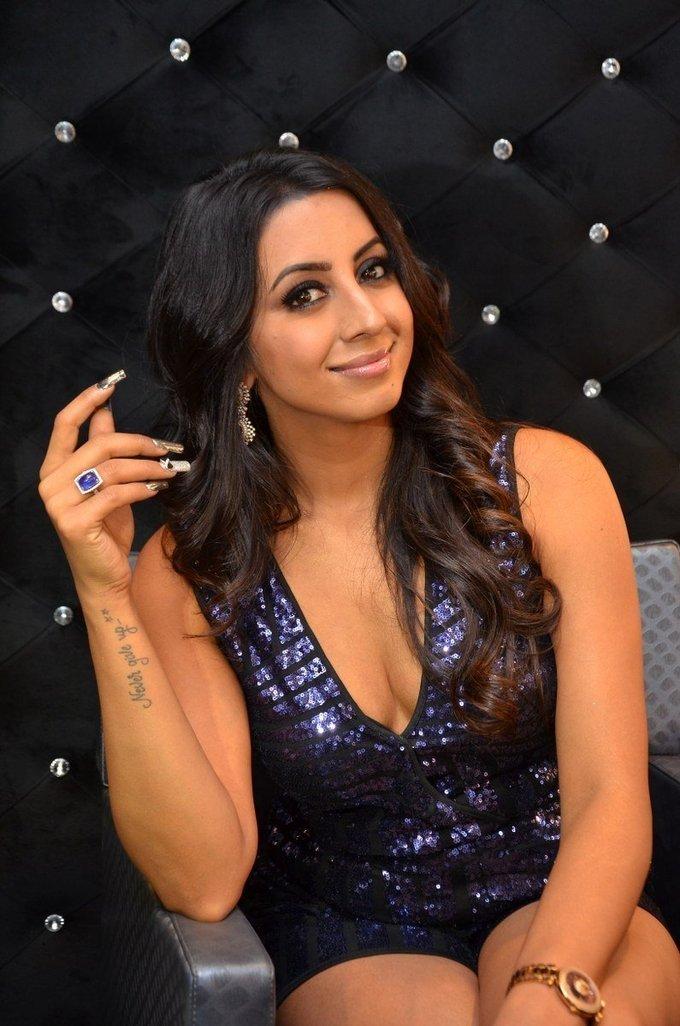 Sanjana Galrani Sizzling During OPI Launch at Mirrors Luxury Salons Pics