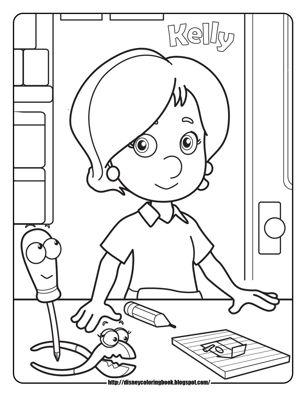 Handy Manny 2 Free Disney Coloring Sheets Learn To