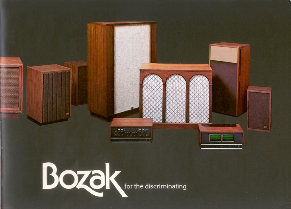 retro vintage modern hi-fi: Bozak for the discriminating 1970's