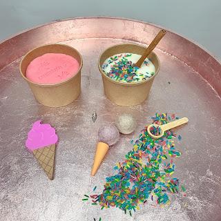 Ice cream parlour role play dough set