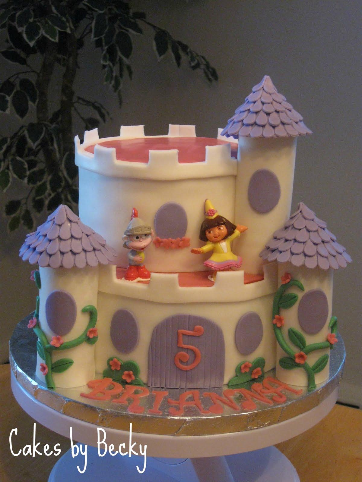 Cakes By Becky Dora Princess Castle Cake