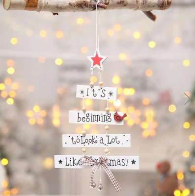 christmas, božić, fairy lights, it's beginnin to look a lot like christmas, decor, dekoracija, decoration, tree, wood, snow, zima, winter, snijeg