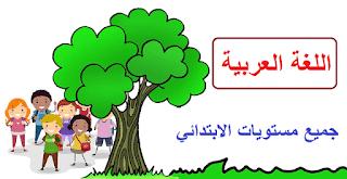 دروس اللغة العربية سلك الابتدائي على شكل خطاطات.