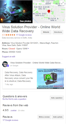 Virus Solution Provider - Online World Wide Data Recovery