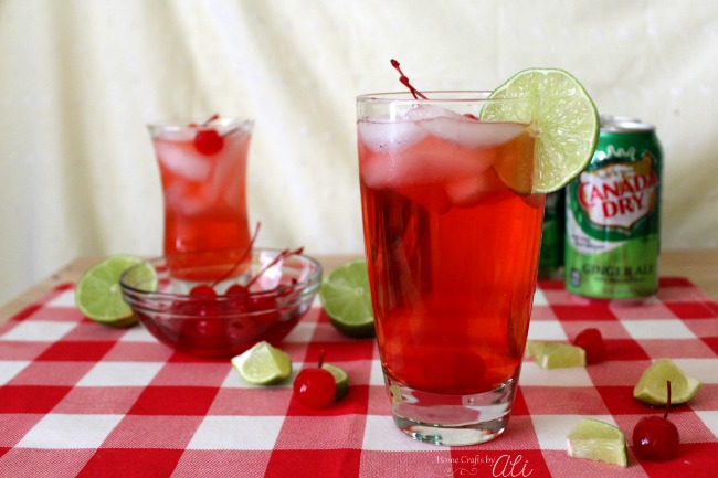 Shirley Temple with a twist recipe non-alcoholic kid friendly drink