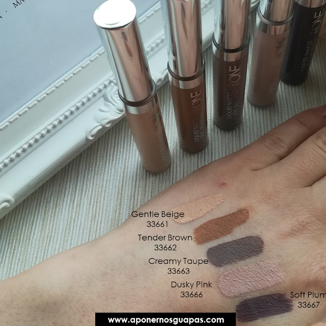 swatch sombras liquid mate the one oriflame