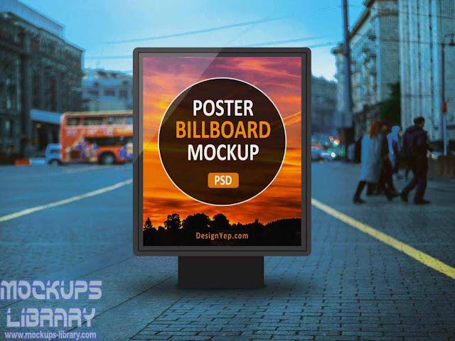 outdoor poster billboard mockup