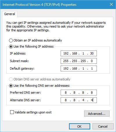 Cara Setting IP Address secara manual
