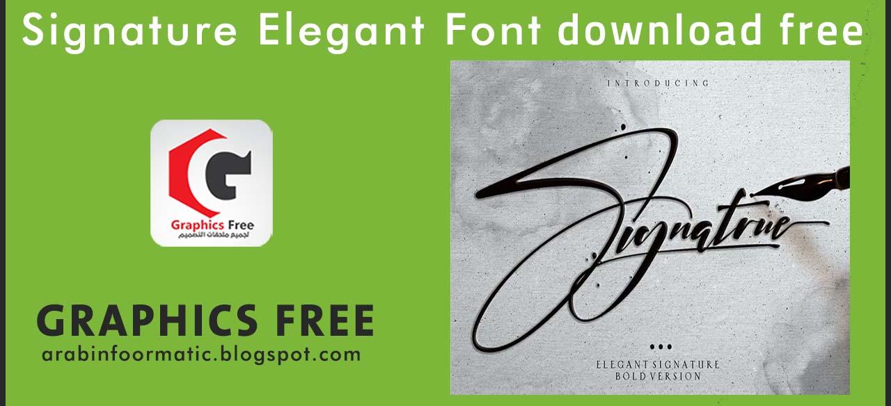 Download Signature Elegant Font download free