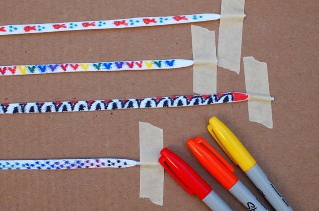 use Sharpies to decorate shoelaces
