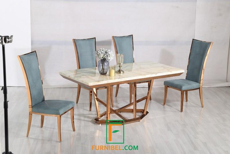 Set Meja Kantor Marble Granit Mewah Modern Stainless