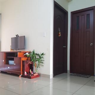 phòng khách chung cư vision 1 phòng ngủ bình tân
