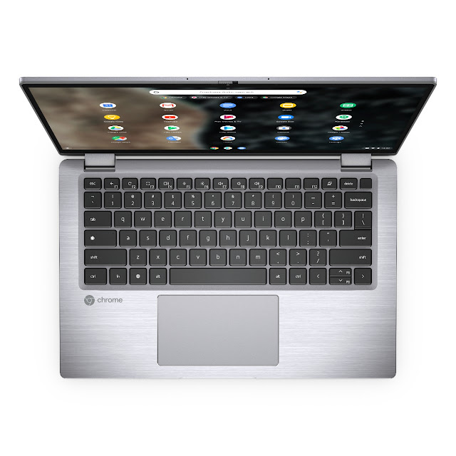 Latitude 7410 Chromebook Enterprise 2-in-1 Top view