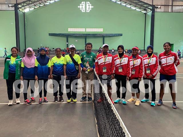 Tenis Porprov Jatim VI: Tim Putri Kota Kediri Tekuk Tim Putri Kabupaten Tuban