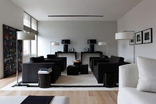black sofa for modern living room