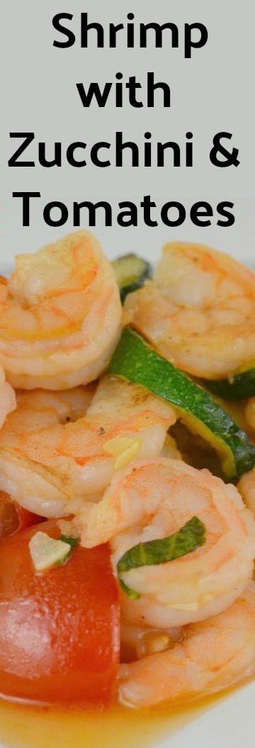 Sauteed Shrimp with Zucchini and Tomatoes Recipe from Hot Eats and Cool Reads! Fresh, summery and healthy meal! Less than 30 minutes including prep time! Saute or make in a foil pack on the grill!