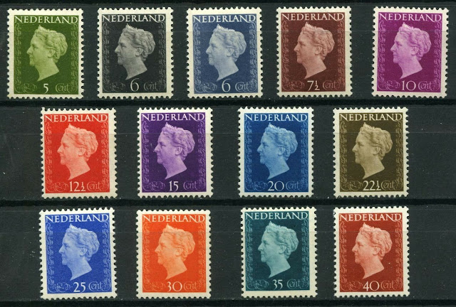 Netherlands Definitives Queen Wilhelmina 1947-1948