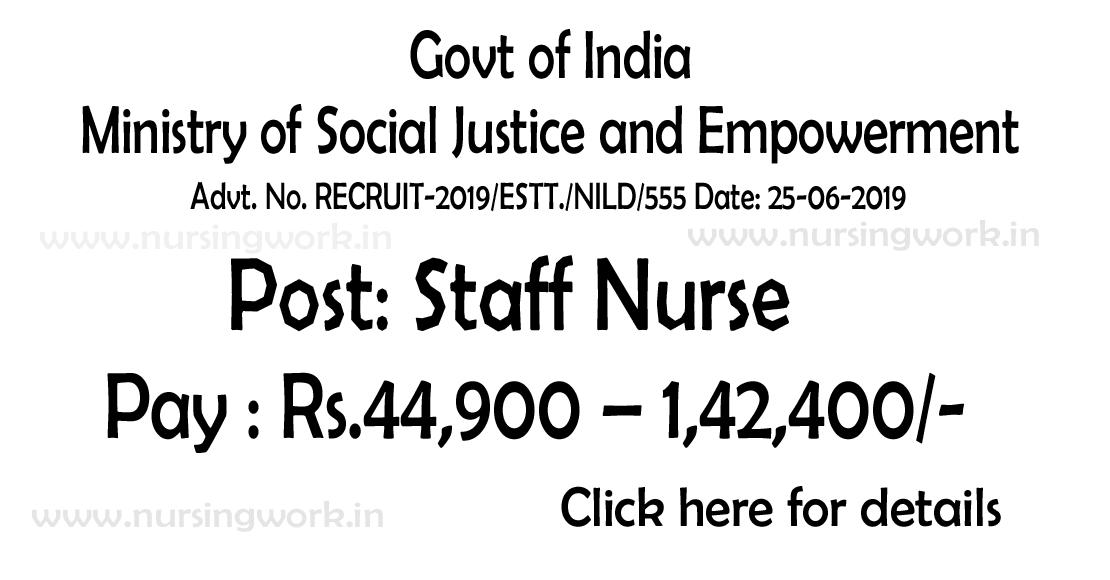 NURSING JOBS: Staff Nurses Recruitment- Rs.44,900