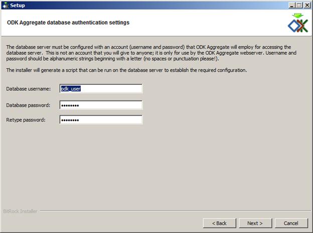odk aggregate postgres database settings